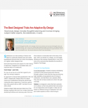 The Best Designed Trials Are Adaptive By Design
