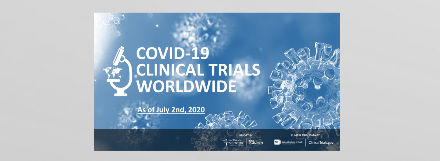 Worldwide Covid-19 Clinical Trials numbers for June