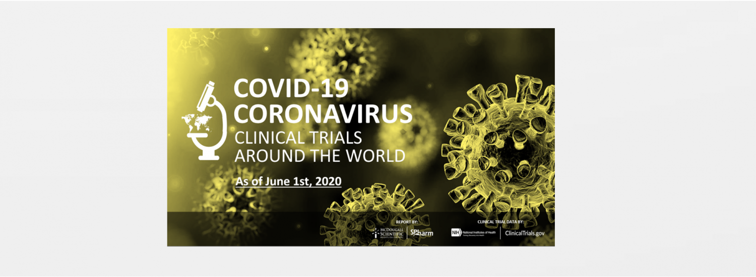 Worldwide Covid-19 Clinical Trials numbers for May