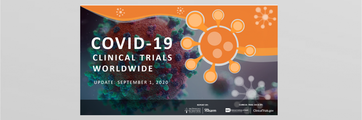 Covid-19 Clinical Trials Worldwide numbers for August